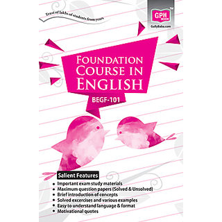 BEGF101 Foundation Course In English (IGNOU Help Book for BEGF-101 in English Medium)