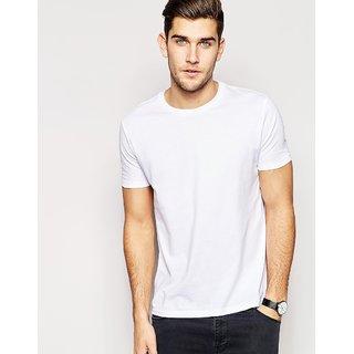 White Round Neck T Shirt