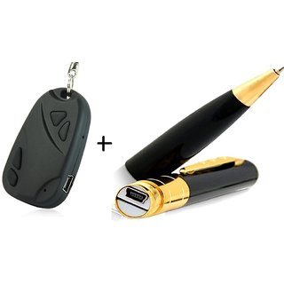 Spy Guru Combo Of Key Chain And Pen Cameras