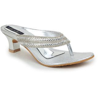 Funku Fashion Women's Silver Heels