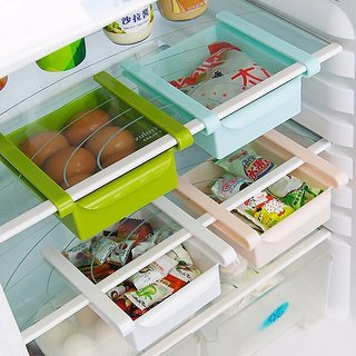 Evershine 2 x Refrigerator Fridge Multi-Partition Storage Rack Fresh Layer Rack Sliding Drawer
