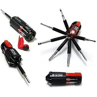8 in 1 Screwdriver set with torch tool kit