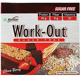 Rite Bite Work out Sugar Free - Choco Berry ( Pack of 24)