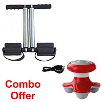 Combo Of Tummy Trimmer With Mini Massager