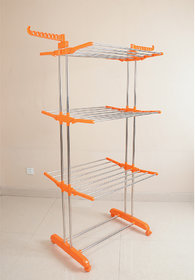 Laundry Hanger cloth Drying stand ,rack,dryer, Stainless steel Large(gift) - Blue