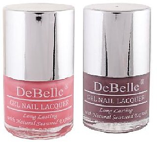 DeBelle Gel Nail Lacquer 8 ml each Combo of 2 (Miss Bliss  Majestique Mauve) (Pink  Mauve)