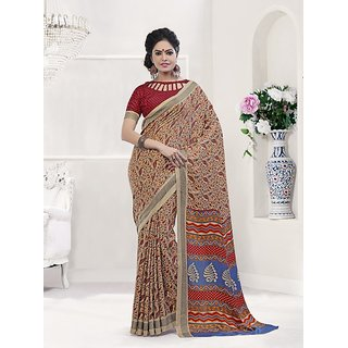 Vaikunth Multicolour Pashmina Silk printed Saree with unstitched blouse
