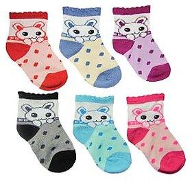 Set of 6 Kids Cotton Socks (1 to 3 yrs)