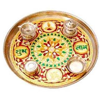 steel pooja thali