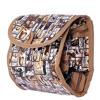 Kuber Industries Make Up, Multi Purpose Kit, Travelling Kit Folding Cum Hanging (Beige) JK109