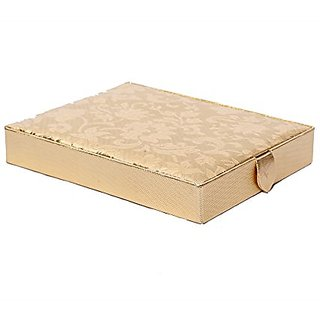 Kuber Industries Ring Box, Ring Kit in Coated Hard Board (Golden) KI0015532