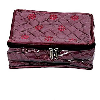 Locker Jewllery Kit Maroon In Quilted Satin JK133