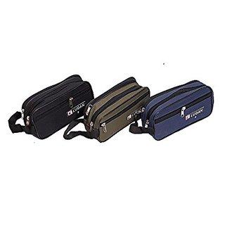 Kuber Industries Multi purpose Kit, Shaving kit, Travelling Kit Set of 3 Pcs (Canvas) KI0098849