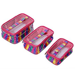 Kuber Industries Travelling Kit, Multi Purpose Kit, Make Up kit Set of 3 Pcs KI002058
