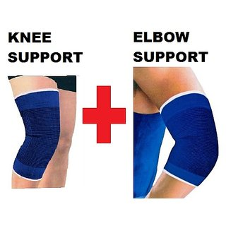 Combo Pack of Elbow Support Knee Support CodEvV-0118