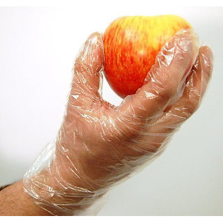 1000 Disposable Plastic Transparent Clear Plastic Gloves Kitchen, Clinic, Office