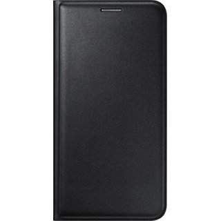 Snaptic Limited Edition Black Leather Flip Cover for Samsung Galaxy J2 Pro