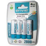 4 AA 2800 Mah Rechargeable Batteries Ni-Mh Toys Camera Nickel Metal Hydride Pcs