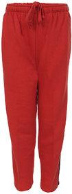 HAIG-DOT Unisex Red Open Bottom Track Pant