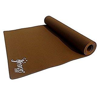 Gravolite Plain Yoga Mat, 24 x 78 x 6-inch (Golden/Brown)