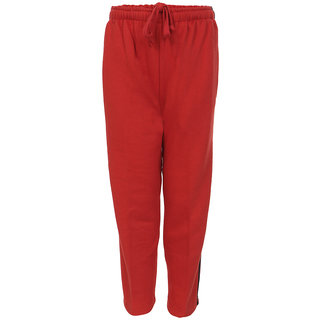 HAIG-DOT Unisex Red Open Bottom Track Pant