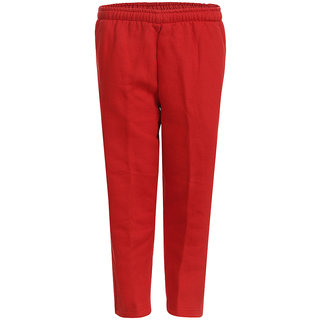 HAIG-DOT Red Open Bottom Track Pant for Girls