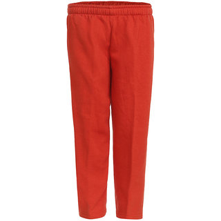 HAIG-DOT Red Cotton Unisex Bottom Track Pant