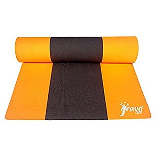 Gravolite Triple Layer Exercise, Fitness, Gym, Meditation, Yoga Mat Orange Color 7mm (26x78 inch)