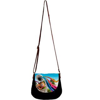 Barisa Epic Multicolor Canvas Cloth Casual Sling Bag - BESBR166