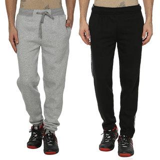 HAIG-DOT Fleece Made Trackpants for Men (Pack of 2)