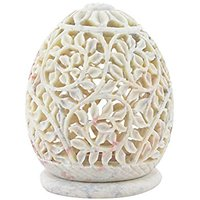 Cratly Stone Made Candle Holder / Tea Light Holder / Candle Lamp Ball / Cup Candle Holder 4x3x3 Inch