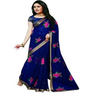 Subhash Daily Wear Blue Color Georgette Saree/Sari