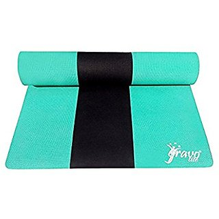 Gravolite Triple Layer Exercise, Fitness, Gym, Meditation, Yoga Mat Green Color 9mm (24x72 inch)