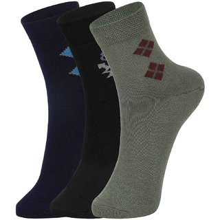 Dukk Men'S Multicoloured Ankle Length Cotton Lycra Socks