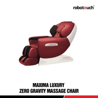 Robotouch  Luxury Full Body Zero Gravity Massage Chair W/Heat  Foot Rollers - Ultimate Massage-rose red