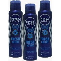 Nivea Men Fresh Active Deo For Men Of 150ml (pack Of 3)