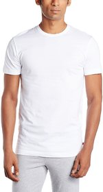 Men's fashions Round Neck Cotton T-Shirt-White
