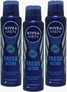 Nivea Men Fresh Active Deo For Men Of 150ml (pack of 3)