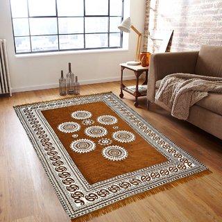 Akash Ganga Premium Chenille Carpet (1Pc) Size 5X7 FEET (Carpet-02)