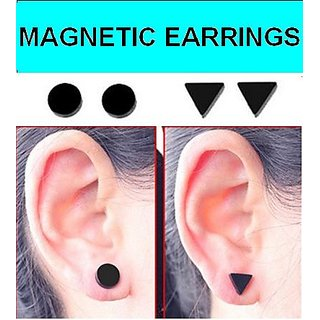 Non Piercing Clip on Magnetic Magnet Ear Stud Mens Womens Earrings CODEbo-7816