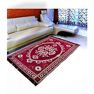 Akash Ganga Premium Chenille Carpet (1 pc) Size 5X7 FEET (Carpet-07)