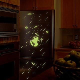 Jaamso Royals 'Radium Mother Earth' Glow in Dark Wall Sticker (21 cm X 29.7 cm)