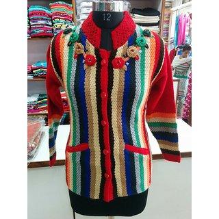 Women's woolen coat winter wear free size m to xl
