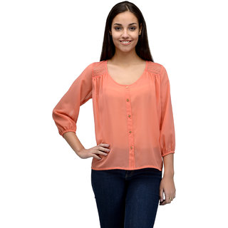 Tunic Nation Women Orange Solid Top
