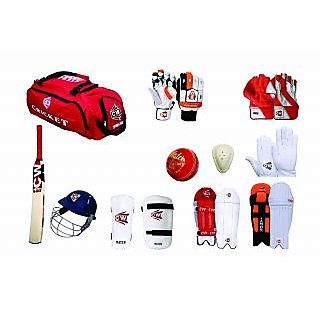 CW Complete Cricket Kit with full Range of Batting Keeping Accessories in  Senior Size