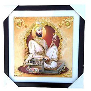 Framed digital reprint matte finish painting - Guru Gobind Singh ji