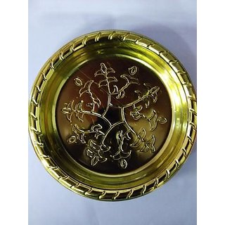 Golden Round Disposable Plate