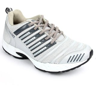 Liberty Force 10 Men's Silver Lace-up Sport Shoes