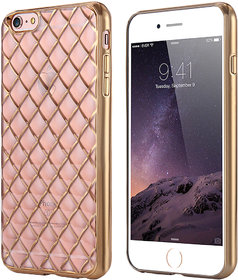 Snaptic Limited Edition Diamond Grid Golden Chrome TPU Cover for Gionee S6s