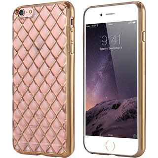 Snaptic Limited Edition Diamond Grid Golden Chrome TPU Cover For Lenovo A7000